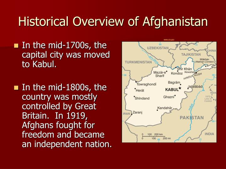 Historical Overview of Afghanistan