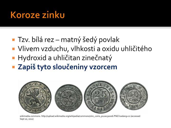 Koroze zinku