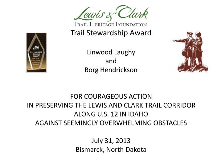 Trail Stewardship Award