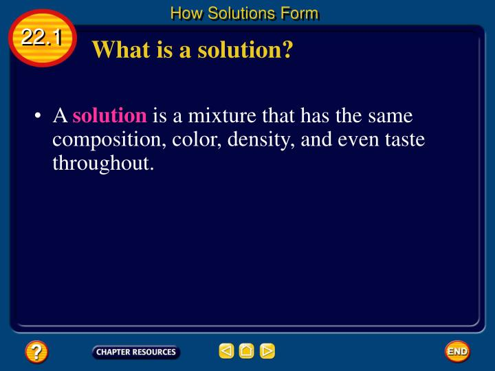 How Solutions Form