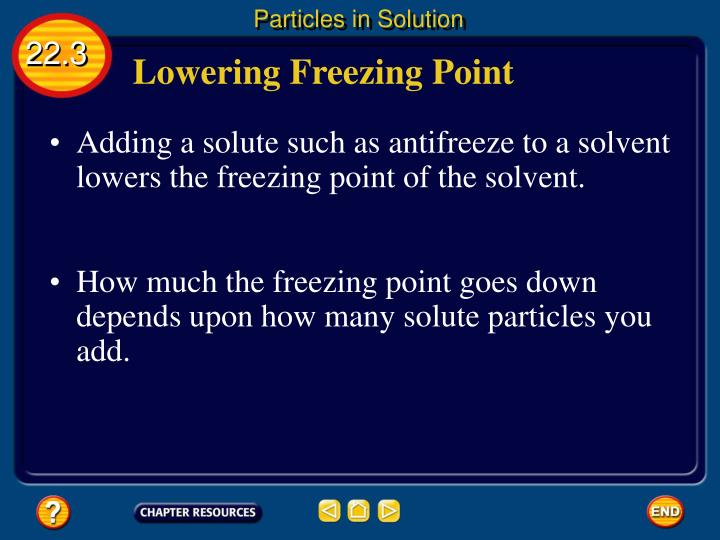 Particles in Solution