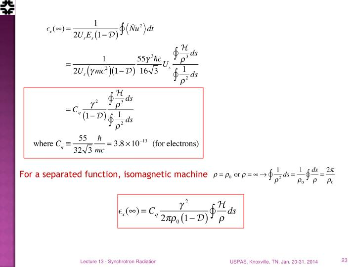 For a separated function, isomagnetic machine