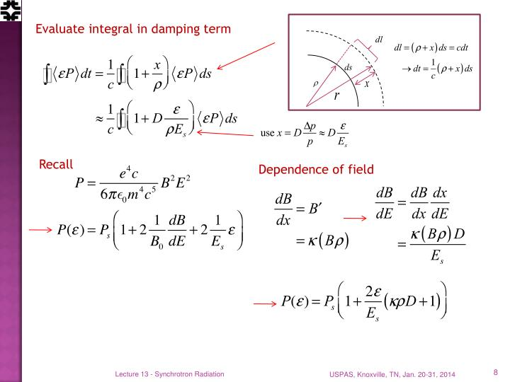 Evaluate integral in damping term