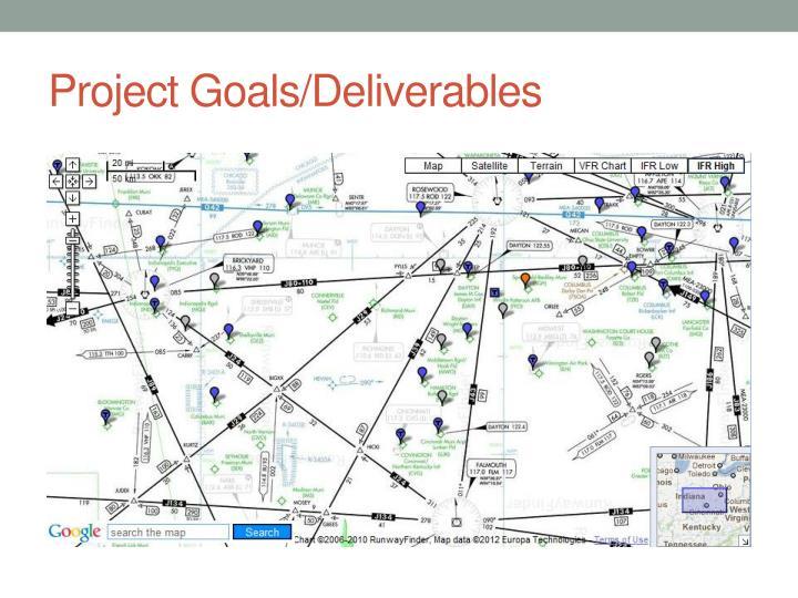 Project Goals/Deliverables