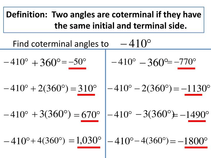 Definition:  Two angles are