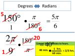 degrees radians