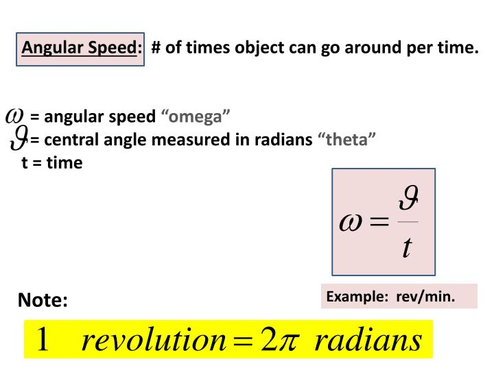Angular Speed