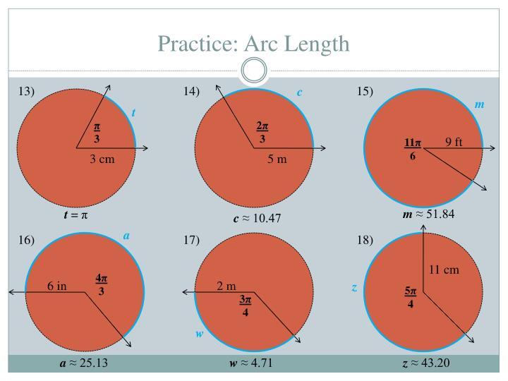 Practice: Arc Length