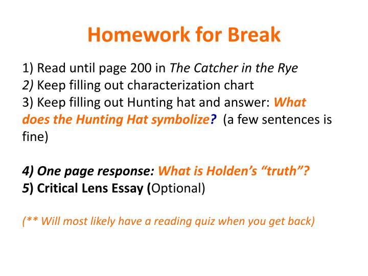 Homework for Break