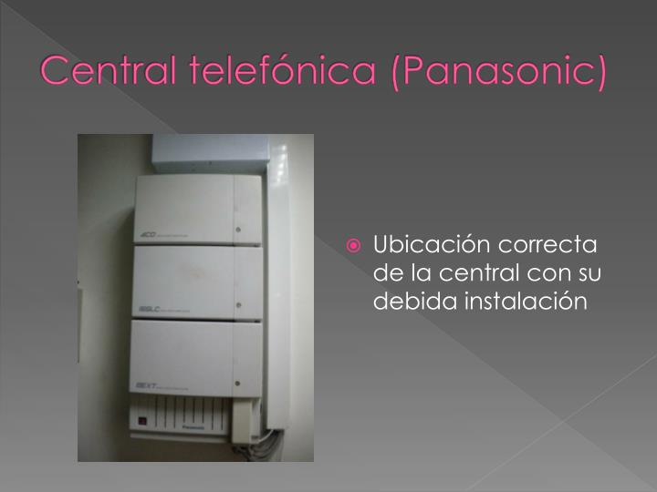 Central telefónica (Panasonic)