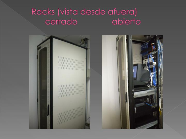 Racks (vista desde afuera)