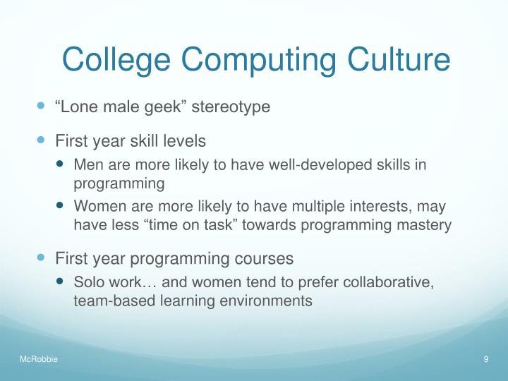 College Computing Culture