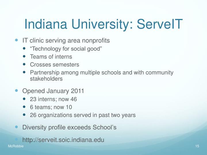 Indiana University: