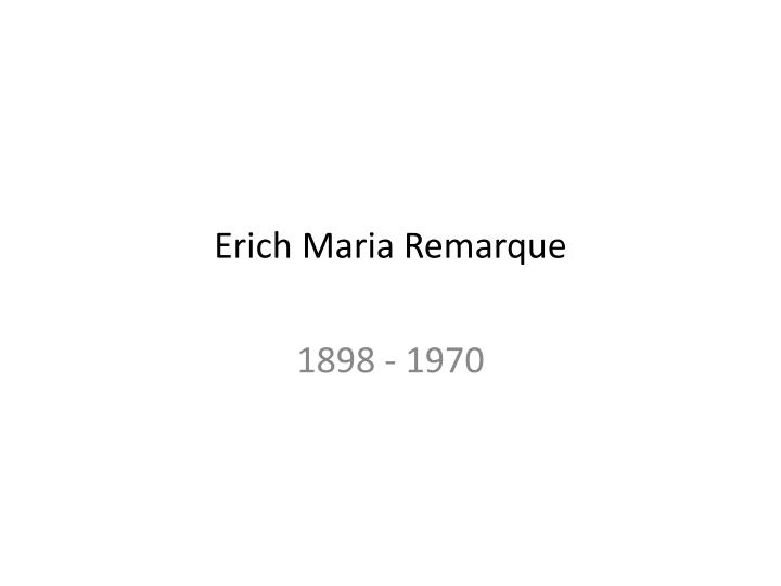 Erich Maria