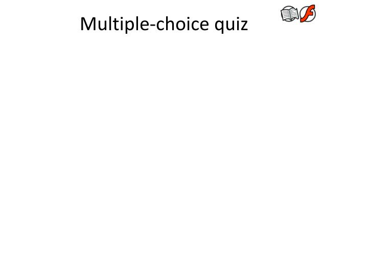 Multiple-choice quiz