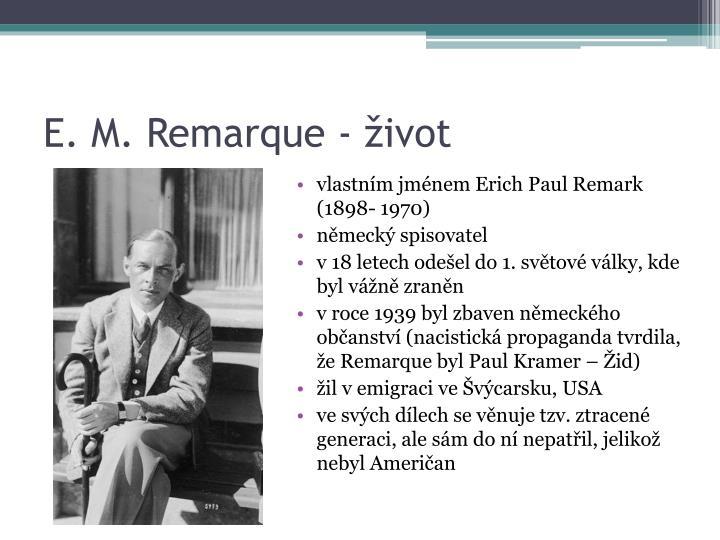 E. M. Remarque - život