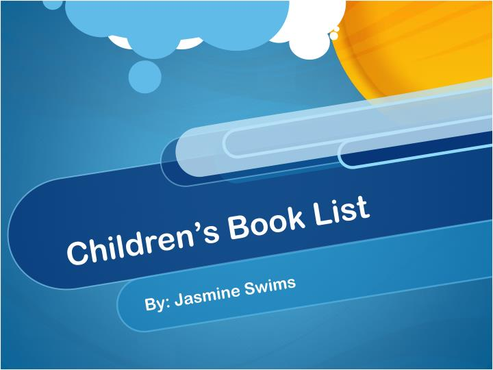 Children s book list