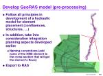 develop georas model pre processing