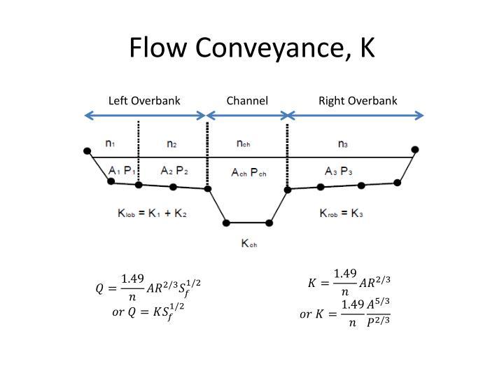 Flow Conveyance, K