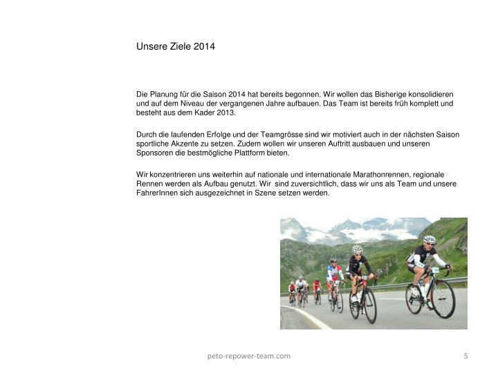 Unsere Ziele 2014