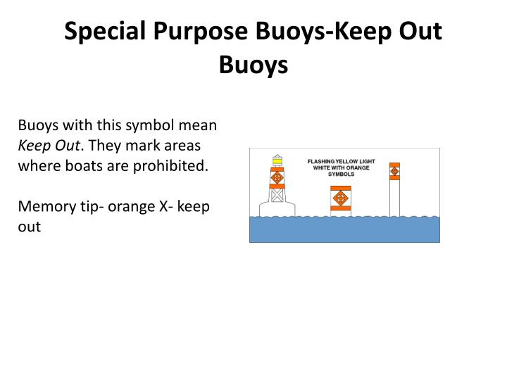 Special Purpose Buoys-Keep Out Buoys