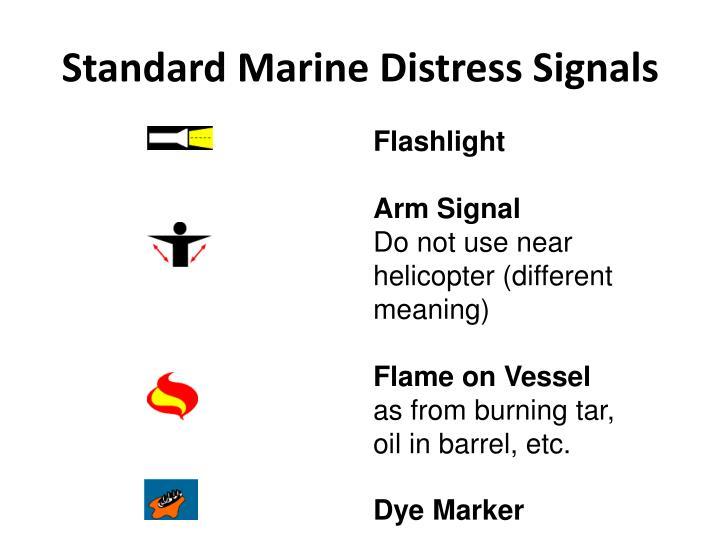 Standard Marine Distress Signals
