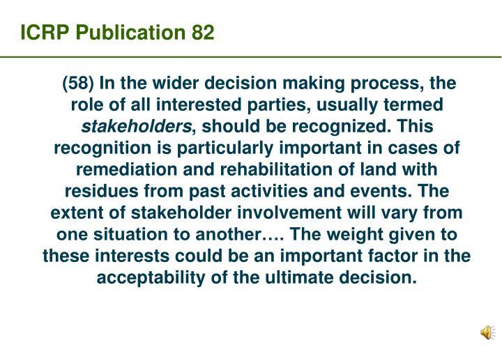 ICRP Publication 82