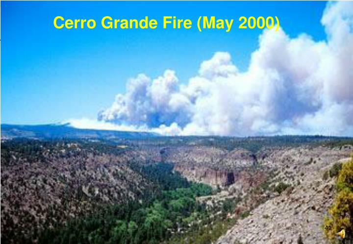Cerro Grande Fire (May 2000)
