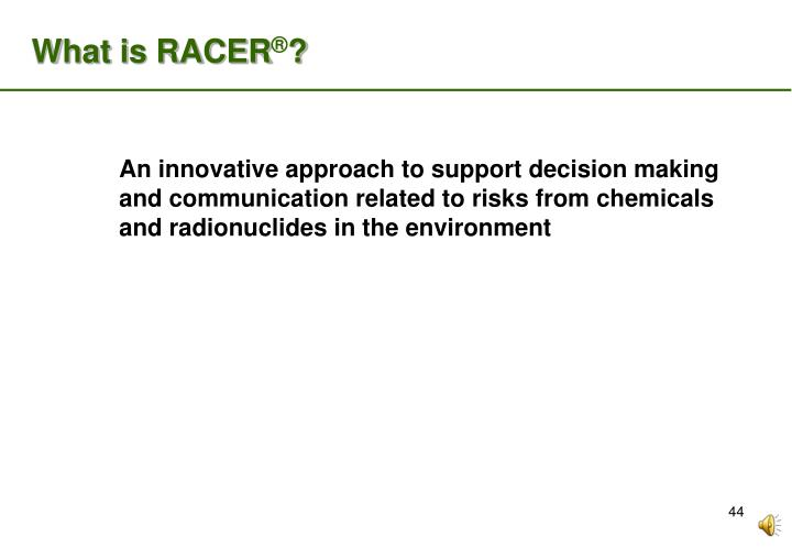 What is RACER