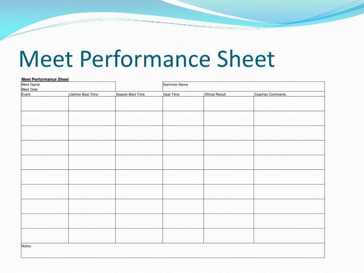 Meet Performance Sheet