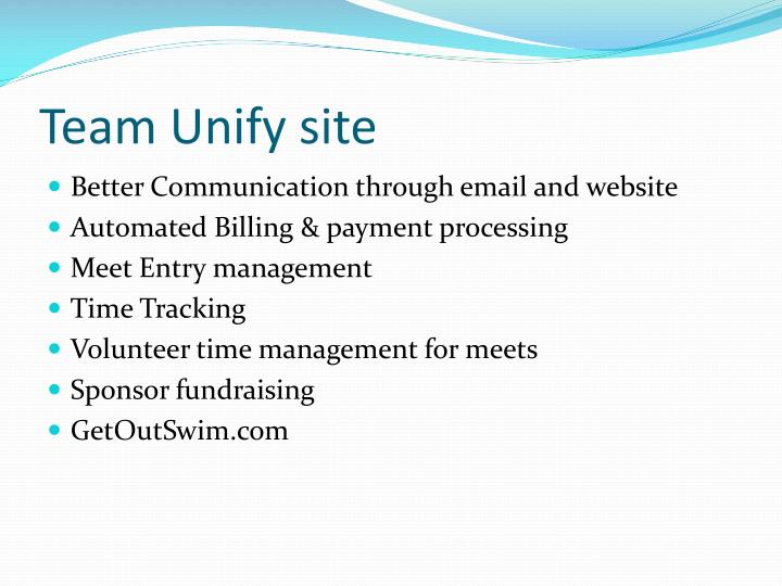 Team Unify site