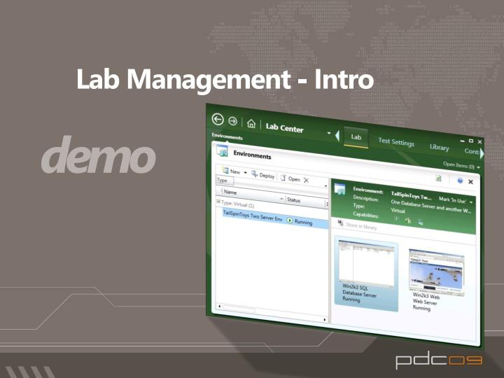 Lab Management - Intro