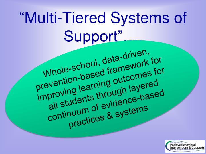 """Multi-Tiered Systems of Support""…."