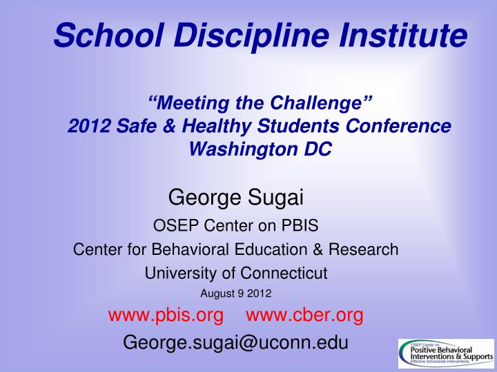 School Discipline Institute