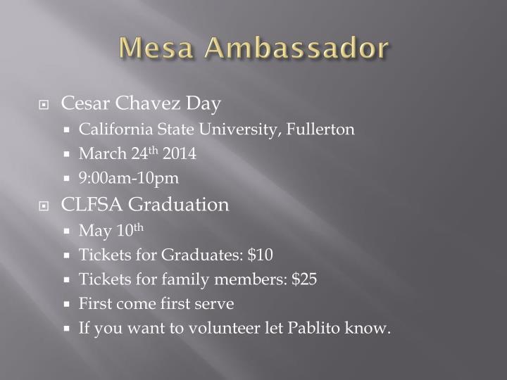 Mesa Ambassador