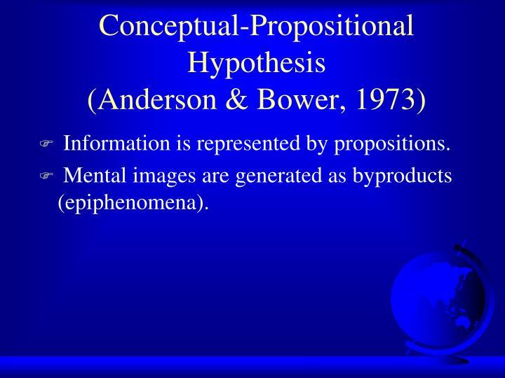 Conceptual-Propositional Hypothesis