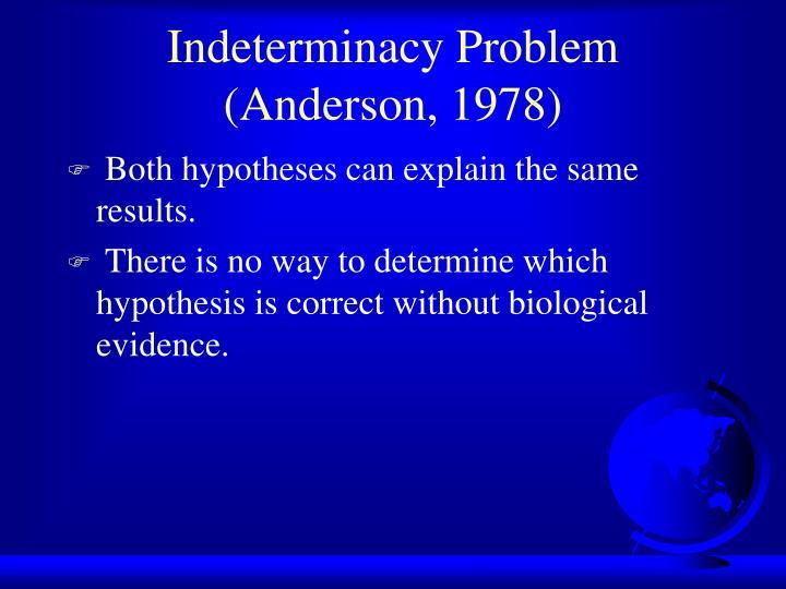 Indeterminacy Problem