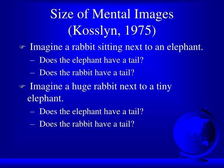 Size of Mental Images