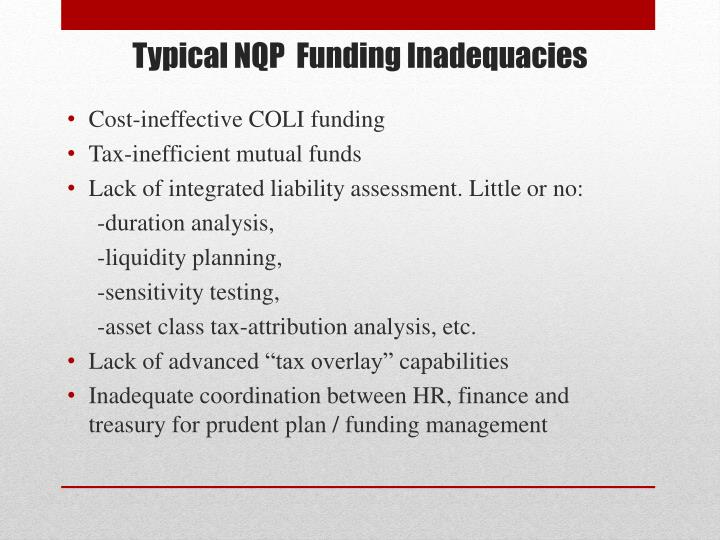 Cost-ineffective COLI funding