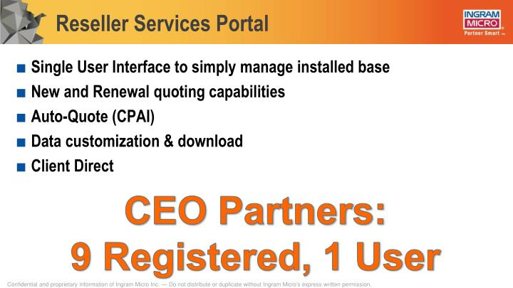 Reseller Services Portal