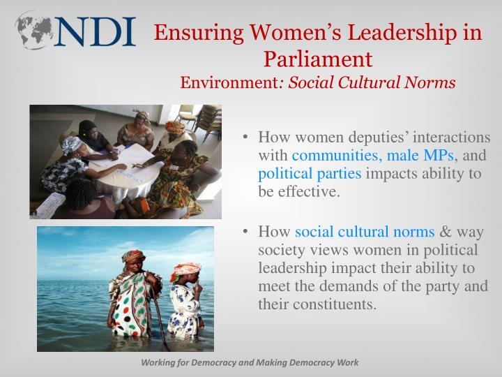 Ensuring Women's Leadership in Parliament