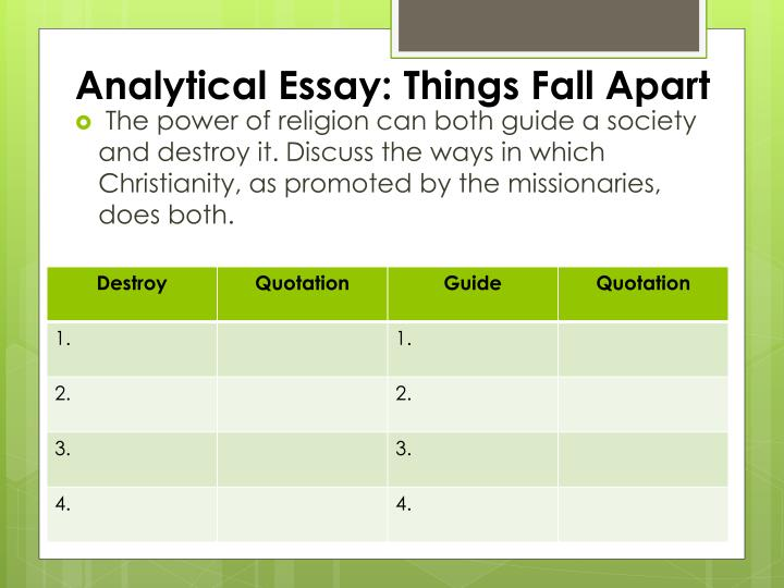 essay religion things fall apart