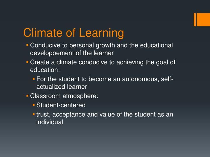Climate of Learning