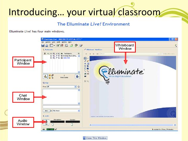 Introducing your virtual classroom