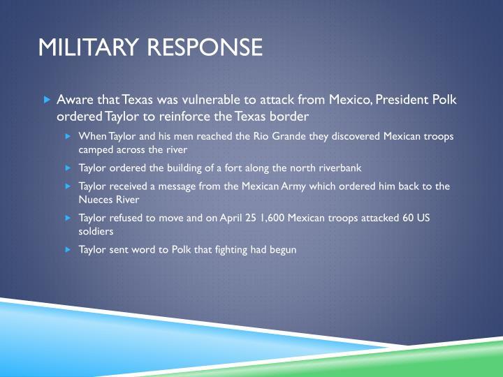 Military response