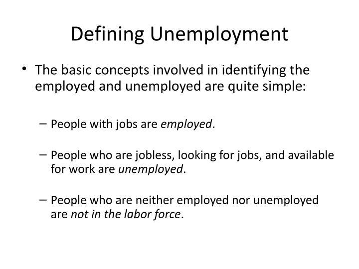 Defining Unemployment