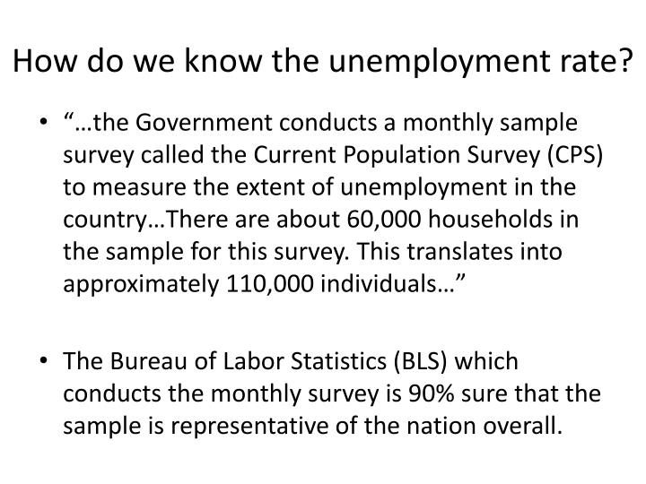 How do we know the unemployment rate?