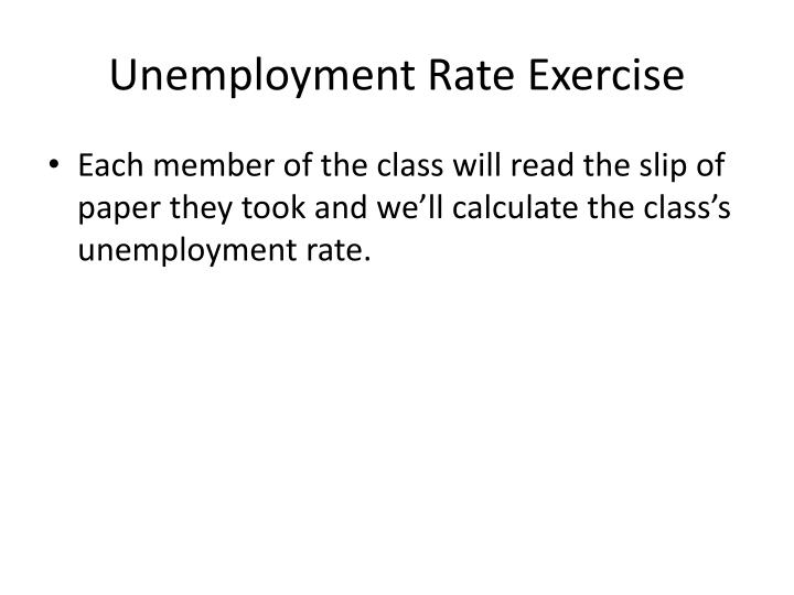 Unemployment Rate Exercise
