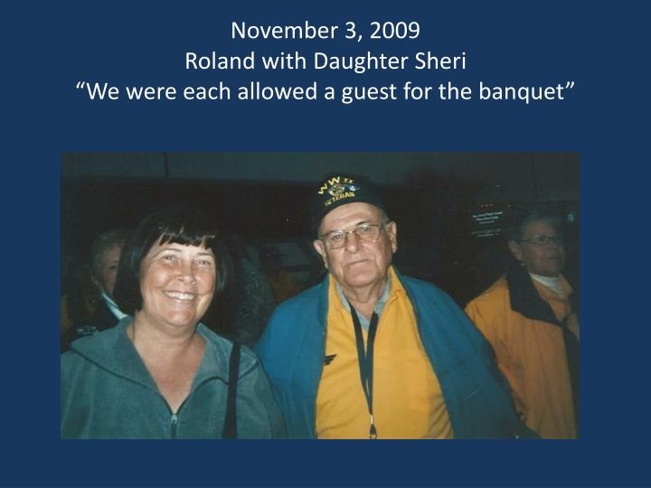November 3, 2009