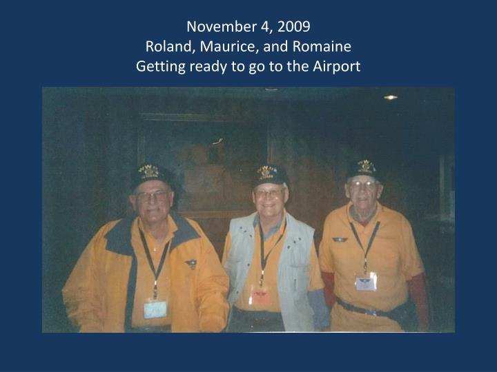 November 4, 2009
